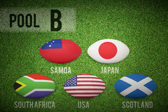 Composite image of rugby world cup pool b Royalty Free Stock Photo