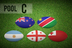 Composite image of rugby world cup pool c Stock Photography