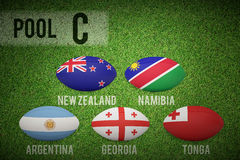 Composite image of rugby world cup pool c Stock Photos