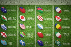 Composite image of rugby world cup pools Stock Photos