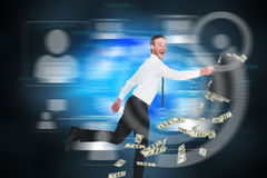 Composite image of running businessman Stock Photos