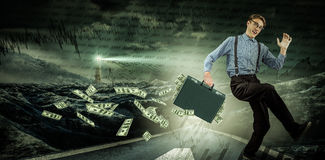 Composite image of running businessman Stock Photography