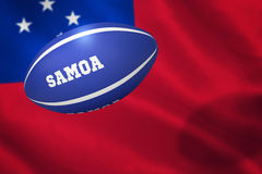 Composite image of samoa rugby ball Stock Photos