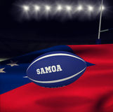Composite image of samoa rugby ball Royalty Free Stock Images