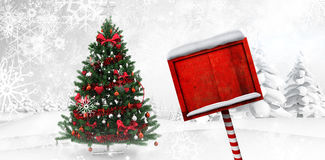 Composite image of santa sign Royalty Free Stock Photos