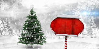 Composite image of santa sign Royalty Free Stock Image