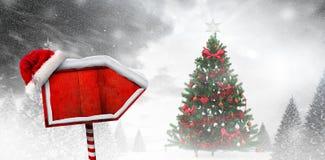 Composite image of santa sign Stock Photo