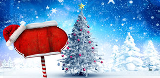 Composite image of santa sign Royalty Free Stock Photography