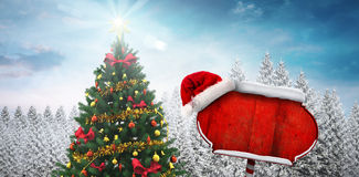 Composite image of santa sign Stock Photos