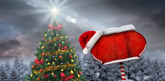 Composite image of santa sign Stock Image