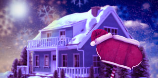 Composite image of santa sign Royalty Free Stock Images
