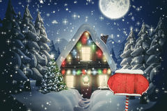 Composite image of santa sign Stock Photography