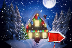 Composite image of santa sign Stock Images