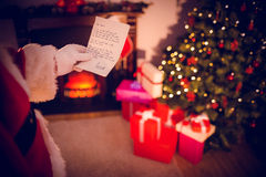 Composite image of santas list Royalty Free Stock Photos