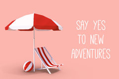 Composite image of say yes to new adventures. Say yes to new adventures against white background with vignette Stock Images
