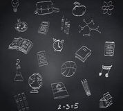 Composite image of school doodles Royalty Free Stock Images