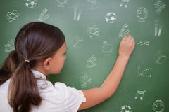 Composite image of school doodles Stock Images