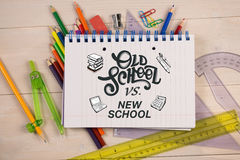 Composite image of school doodles Stock Photography