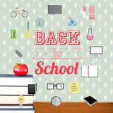 Composite image of school icons Royalty Free Stock Photography