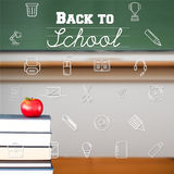 Composite image of school icons Stock Photography