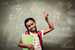 Composite image of school subjects doodles Royalty Free Stock Photos