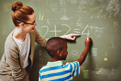 Composite image of school subjects doodles Royalty Free Stock Photography
