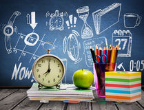 Composite image of school supplies Stock Photography