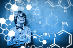 Composite image of science graphic Stock Images