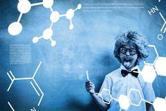 Composite image of science graphic Royalty Free Stock Photography