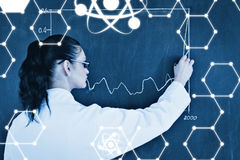 Composite image of science graphic Stock Photo