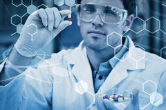 Composite image of science graphic Royalty Free Stock Photo