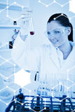 Composite image of science graphic Royalty Free Stock Photos