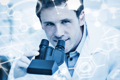 Composite image of science graphic Stock Image