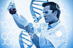 Composite image of science graphic stock photography