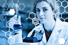 Composite image of science graphic Royalty Free Stock Image