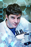 Composite image of science and medical graphic Stock Photography