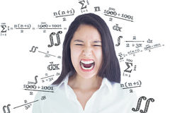Composite image of screaming woman Royalty Free Stock Image