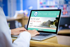 Composite image of screen of an online store Stock Image