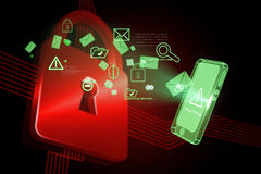 Composite image of security interface Stock Image