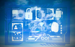 Composite image of security interface Royalty Free Stock Image