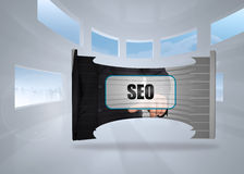 Composite image of seo banner on abstract screen Stock Image