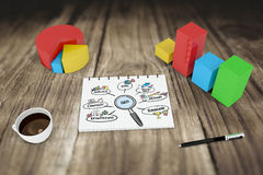 Composite image of seo doodle Royalty Free Stock Photo