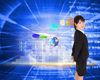 Composite image of serious businesswoman Royalty Free Stock Images
