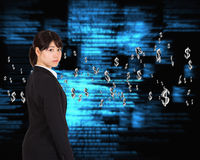 Composite image of serious businesswoman Stock Photography