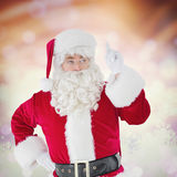 Composite image of serious santa claus pointing his finger Stock Images