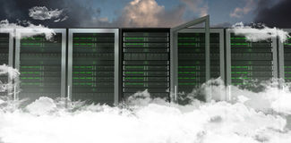 Composite image of server towers Royalty Free Stock Photo