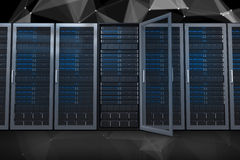 Composite image of server towers Stock Images