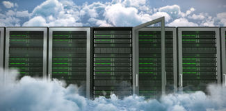 Composite image of server towers Royalty Free Stock Photography