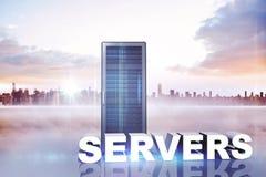 Composite image of servers Stock Photos