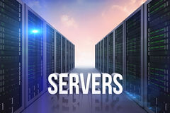 Composite image of servers Royalty Free Stock Photography